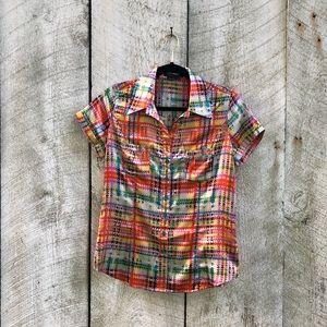BCBGMaxAzria | colorful button down shirt